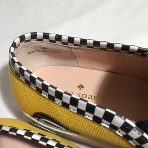 kate spade Shoes - NEW Kate Spade Yellow Linda Taxi Flat Sneakers